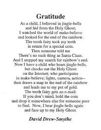 poems about gratitude like success