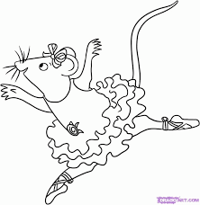 angelina ballerina coloring pages coloring