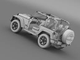jeep avalanche jeep wrangler rubicon 10th anniversary 2014 3d model max obj 3ds