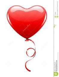 balloon ribbon heart as air balloon with ribbon royalty free stock image image