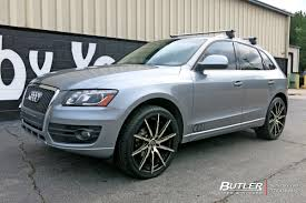 audi q5 rims and tires audi q5 with 22in lexani css15 wheels exclusively from butler
