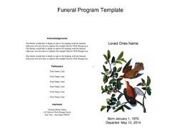 Cheap Funeral Programs Funeral Program Template Free Download Fill Create And Print