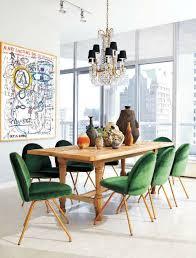 Velvet Dining Room Chairs Rosa Beltran Design Sneak Peek Green Velvet Saarinen Dining Chairs