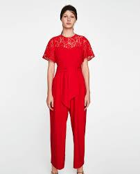 lace jumpsuits contrast lace jumpsuit jumpsuits zara slovenia
