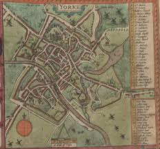 York England Map Bloody Newes From York Www Bloodynewes Com