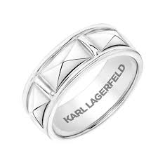pyramid wedding band karl lagerfeld pyramid inspiration collection wedding band 11