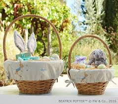 easter gifts for boys beatrix potter linen easter basket liners pottery barn kids