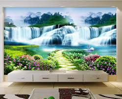 theme wall beautiful waterfalls themed wall sticker for living room