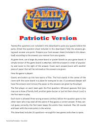 patriotic family feud printable party game 4th of july