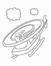 small helicopter in the sky coloring page for toddlers