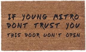 Rubber Cal Wipe Your Paws Coco Mats N More Young Metro Don U0027t Trust You Doormat U0026 Reviews