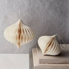 paper ornaments ivory west elm