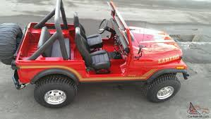 red jeep jeep cj7 v8 304 red u0026 black 4x4