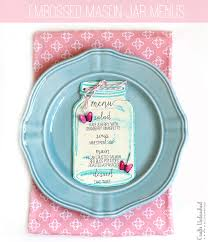 menu design for dinner party dinner party menu cards with embossed mason jars menu cards for
