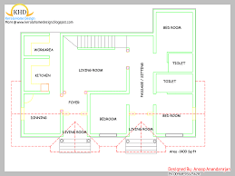 3 bhk single floor house plan stunning 3 bhk simple home map in 1500 sq feet with kerala style