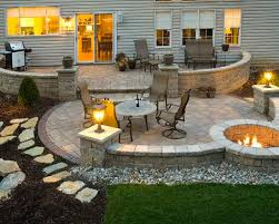 Best  Stone Patio Designs Ideas On Pinterest Paver Stone - Backyard stone patio designs