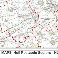 Hull England Map by Hull Hu Postcode Wall Map Xyz Maps