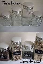 kitchen glass canisters diy chalkboard paint glass jars pumps iron