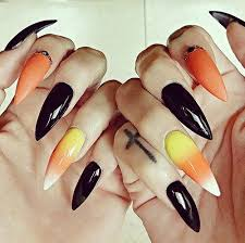 20 spooky nail art ideas for halloween candy corn nail nail