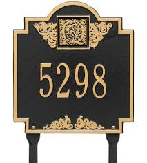 Monogrammed Lawn Chairs Lawn Address Plaques And Address Signs Organize It