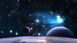 beautiful space planet stars light wallpaper