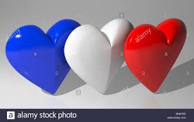 French And American Flags French British American Flag Hearts Stock Photo Royalty Free