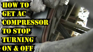 lexus es 350 ac compressor how to get ac compressor to stop turning on u0026 off repeatedly youtube
