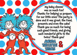 thing 1 and thing 2 baby shower dr seuss thing 1 thing 2 baby shower thank you card my family is