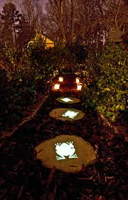 Solar Lighting For Gardens by Make Your Garden Glow With Solar Lights And Glow In The Dark Paint