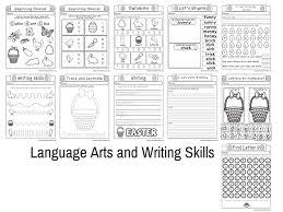 easter no prep preschool and kindergarten worksheet 30 page book