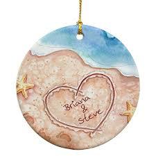 amazon com giftsforyounow beach couples christmas ornament 2 75