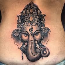 beautiful lord ganesh design hd wallpaper on back