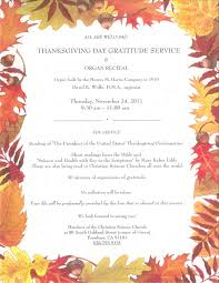 annual thanksgiving service and organ recital on november 24