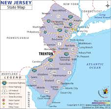 map of state of ny new jersey state map