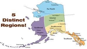 alaska major cities map alaska by region alaska corner state of alaska
