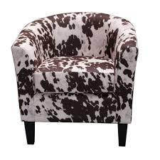cow spot print barrel chair products pinterest products