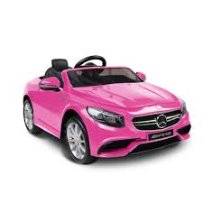 pink mercedes mercedes s63 kids ride on car pink go pony the original pony cycle