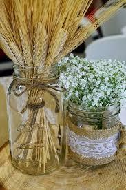 Wedding Centerpieces Using Mason Jars by Best 25 Wheat Centerpieces Ideas On Pinterest Lavender