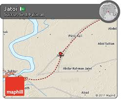 sukkur map free shaded relief 3d map of jatoi