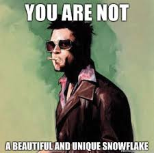 Fight Club Memes - fight club snowflake meme you are not la amebita joguinhos
