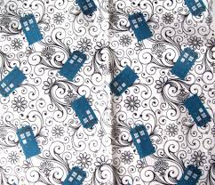 doctor who wrapping paper timey wimey fabric doctor who almost 50th anniversary