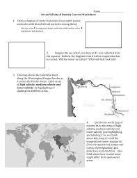 Label The World Map Worksheet by Salinity Populations