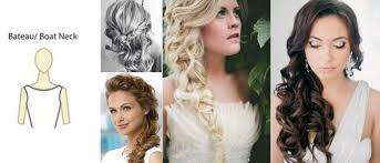 hairstyle to distract feom neck necklines and hairstyles hanrie lues bridal evening