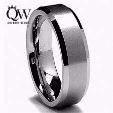 beveled ring 6 8mm white tungsten carbide rings vintage for women and men