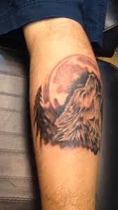 wolf howling moon forest trees freestyle craze tattoos by