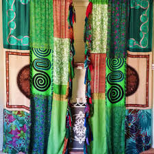 Hippie Curtains Boho Curtains Panels Patchwork Drapes From Hippiewild On Etsy