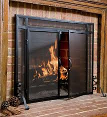steel flat guard screen fireplace screens plow hearth