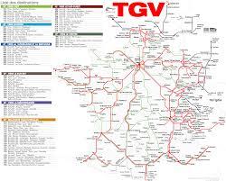 Paris France Map Tgv Karte Frankreich Schnellzugriff Tgv Linien