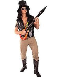 Slash Halloween Costume Slash 80s Metal Rock Fancy Dress Halloween Costume Hat Tattoo