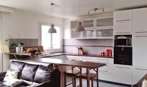 salon cuisine ouverte cuisine ouverte sur salon m nouvelles idées amenagement sejour